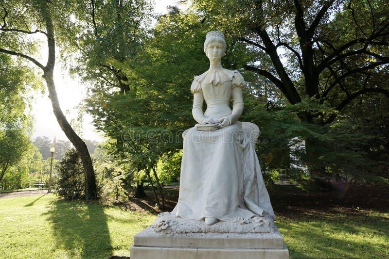 Monumento di Sissi in Meran in Italia immagini stock