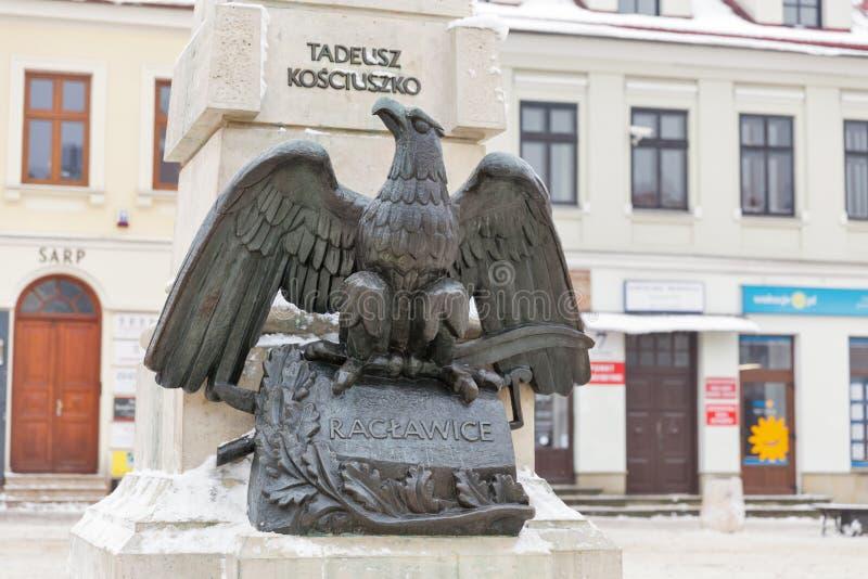 Monumento di Tadeusz Kosciuszko in Rzeszow, Polonia immagine stock