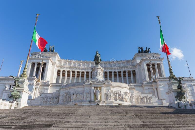 Monumento di Victor Emmanuel II a Roma, Italia fotografie stock