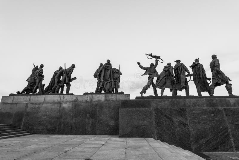 Monumento di vittoria in StPetersburg immagini stock