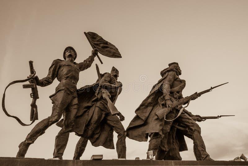 Monumento di vittoria in StPetersburg fotografie stock
