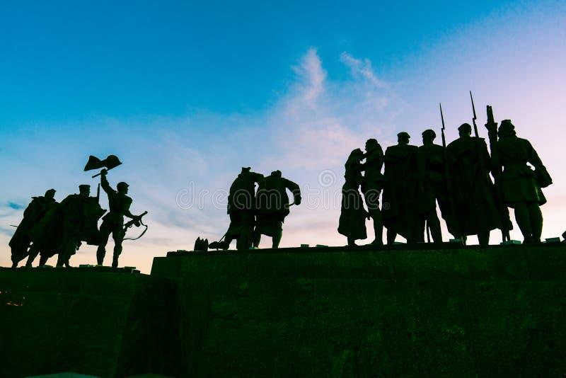 Monumento di vittoria in StPetersburg fotografia stock