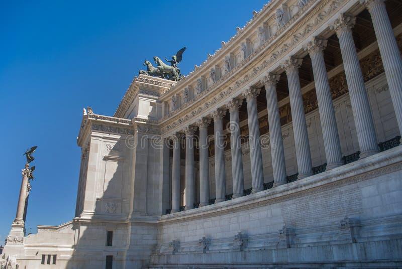 Monumento di Vittorio Emanuele II sulla piazza Venezia, Roma, Italia fotografia stock libera da diritti