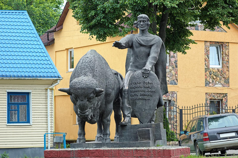 Monumento di Vladimir Vasilkovich, principe di Volhynia, in Kamenet immagini stock libere da diritti