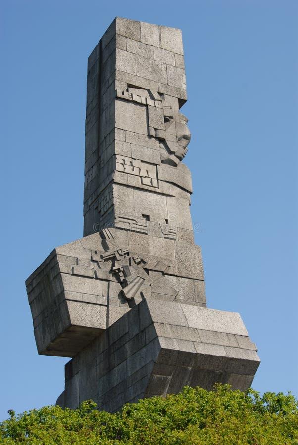 Monumento di Westerplatte immagini stock libere da diritti