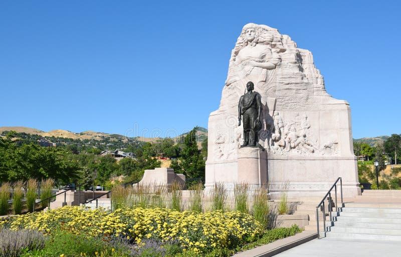 Monumento do batalhão do mórmon imagem de stock