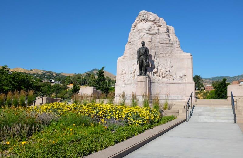 Monumento do batalhão do mórmon fotografia de stock royalty free