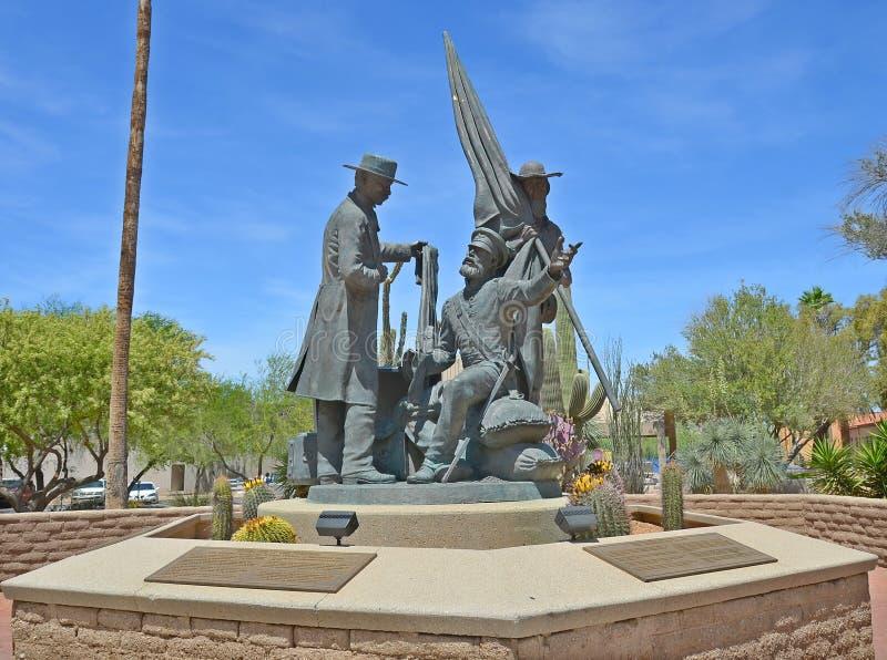 Monumento do batalhão do mórmon de Tucson, imagem de stock royalty free