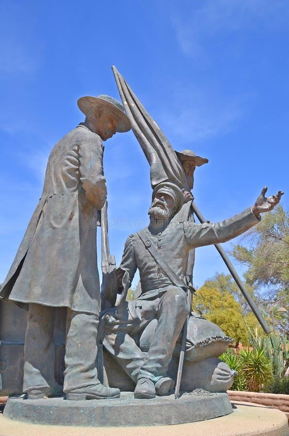 Monumento do batalhão do mórmon de Tucson, imagem de stock