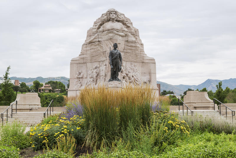 Monumento do batalhão do mórmon em Salt Lake City, Utá foto de stock royalty free