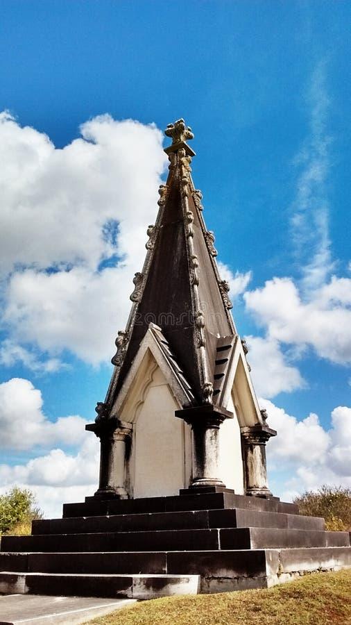 Monumento do cemitério de Cypress imagens de stock