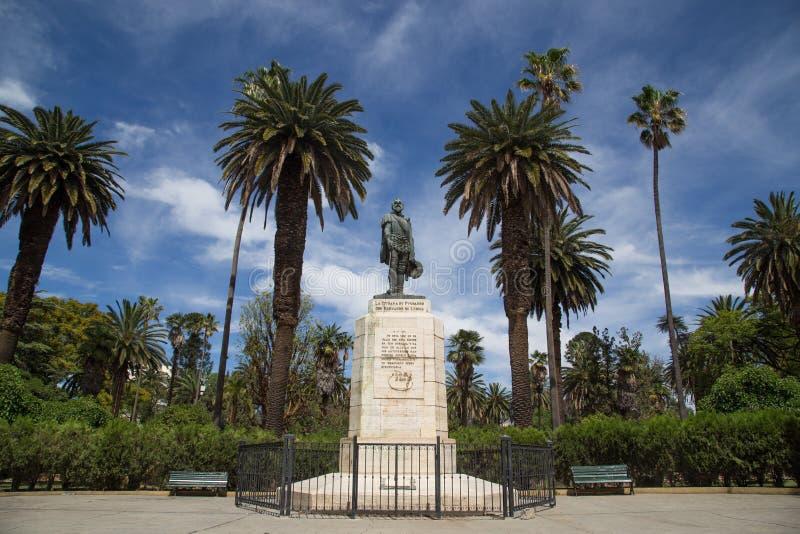 Monumento do fundador em Salta, Argentina fotografia de stock