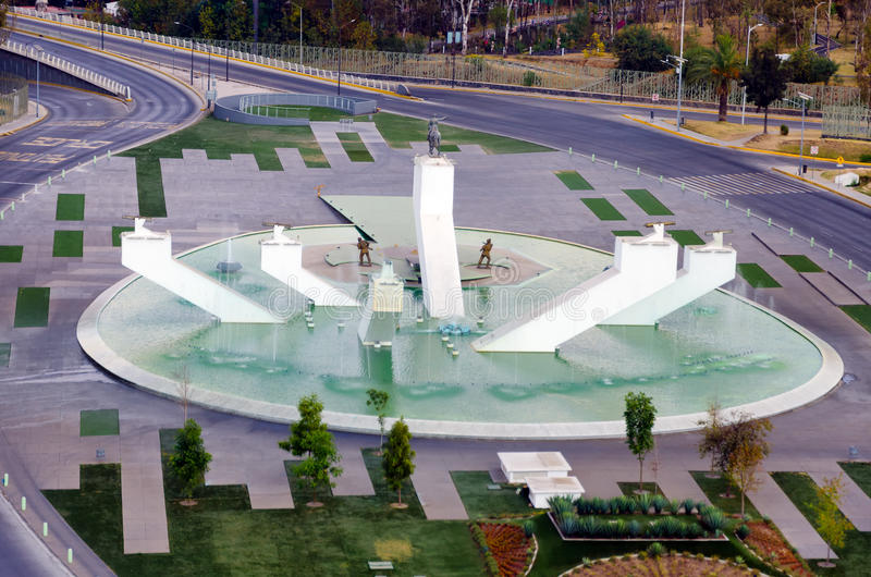 Monumento do general Zaragoza Ignacio em Puebla imagens de stock
