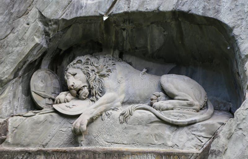 Monumento do leão na lucerna, switzerland imagens de stock royalty free
