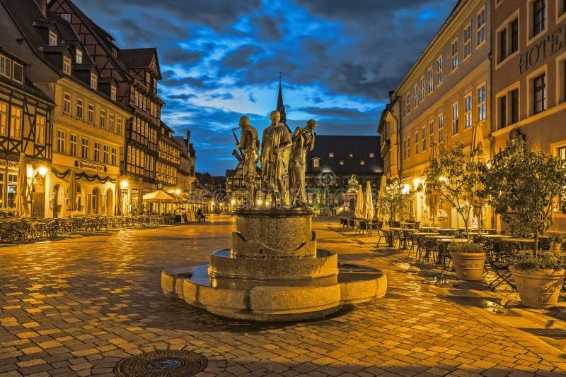 Monumento do mercado de Quedlinburg imagens de stock royalty free
