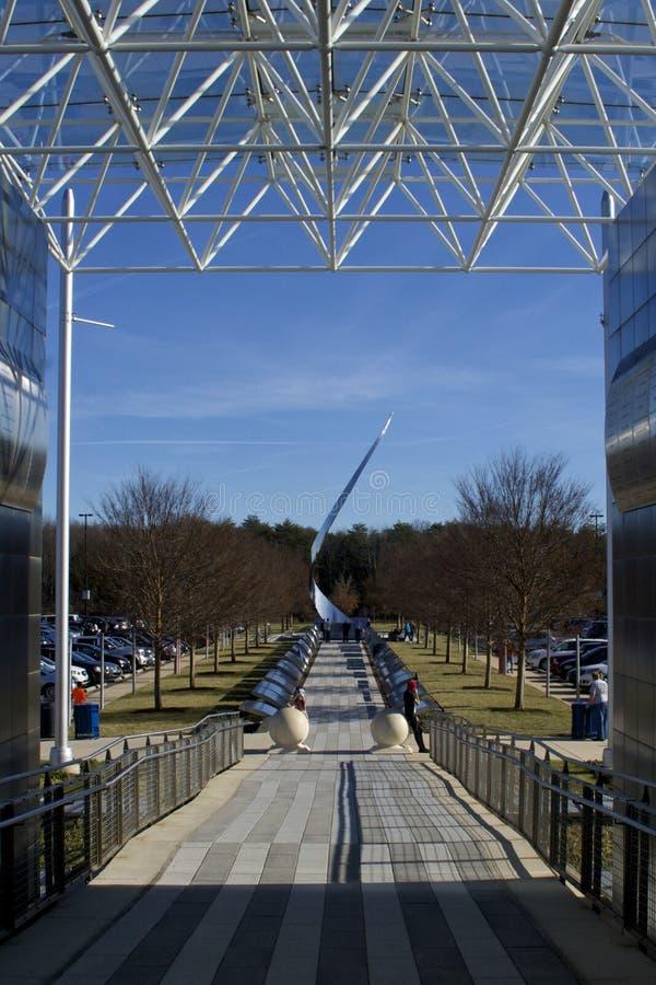 Monumento do museu de espaço da American National Standard do ar imagem de stock royalty free