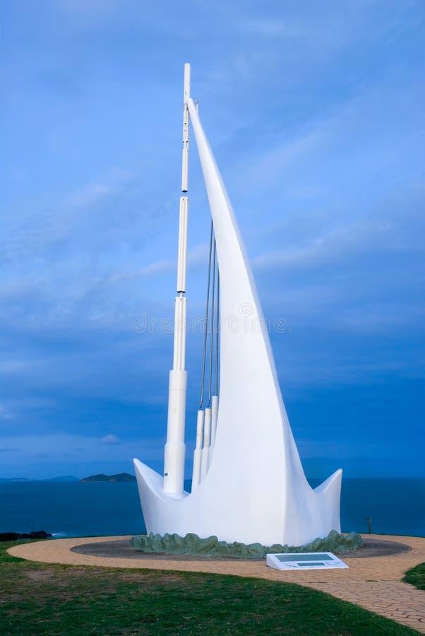 Monumento do navio do canto imagens de stock
