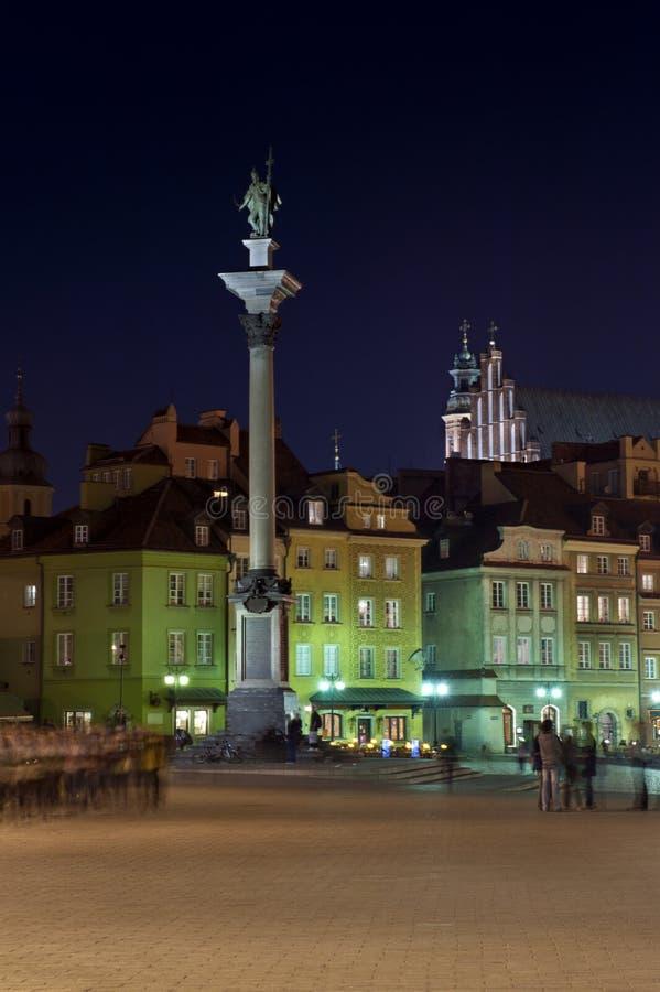 Monumento do rei polonês em Varsóvia imagens de stock