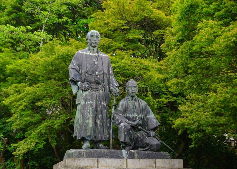 Monumento do samurai em Kyoto, Japão foto de stock royalty free