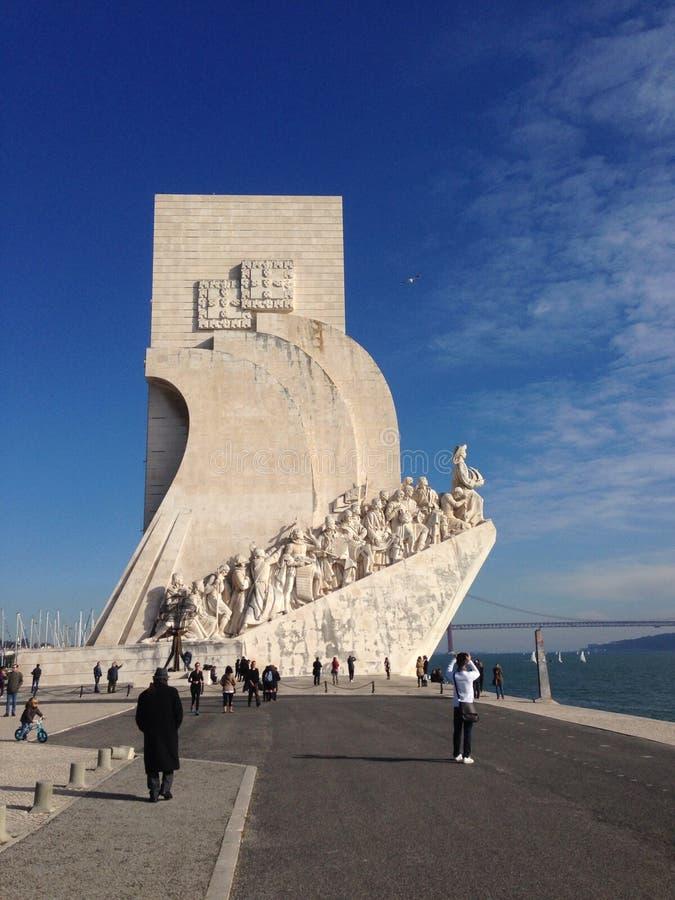 Monumento dos conquistadores de Lisboa imagem de stock