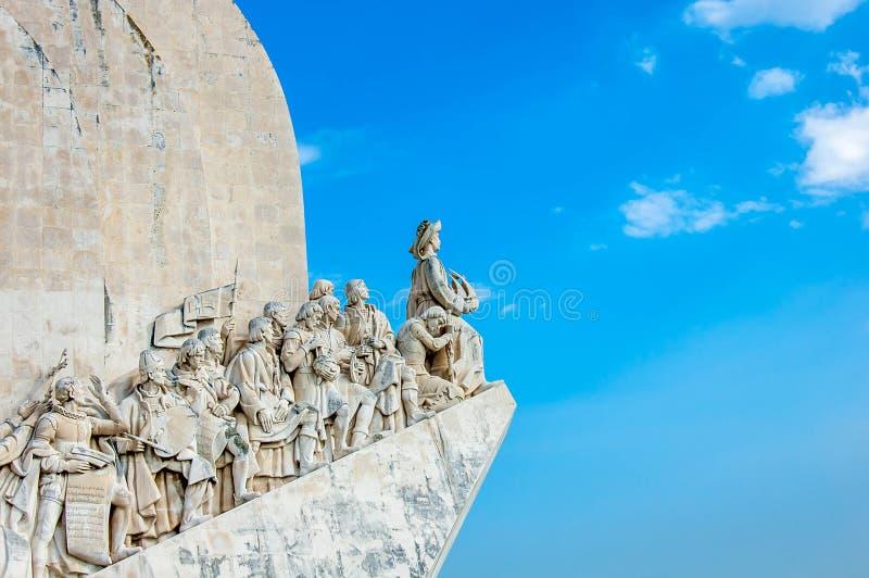 Monumento dos exploradores de Lisboa imagem de stock