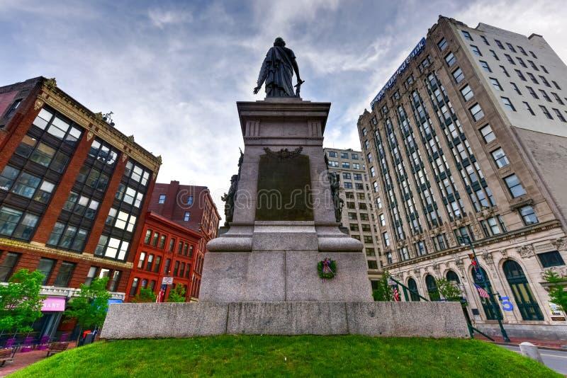 Monumento dos soldados e dos marinheiros de Portland - Maine imagem de stock royalty free