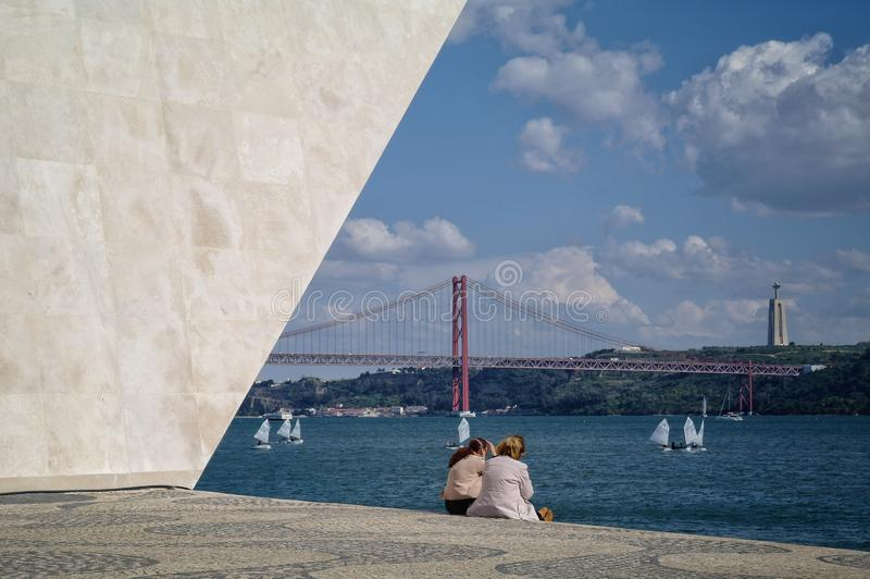 Monumento em Lisboa imagem de stock