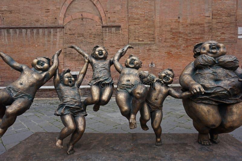 Monumento em Siena fotografia de stock