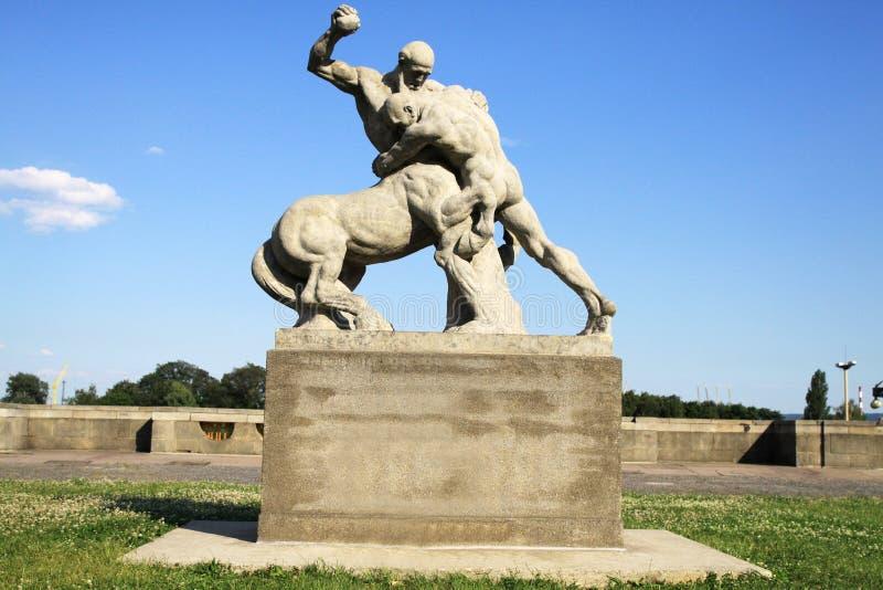 Monumento em Szczecin imagem de stock royalty free