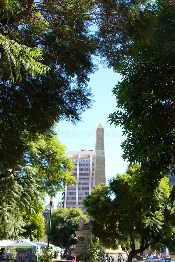 Monumento em Valparaiso no Chile fotos de stock