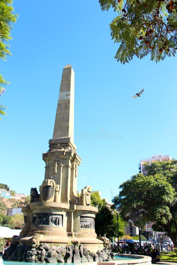 Monumento em Valparaiso no Chile fotografia de stock