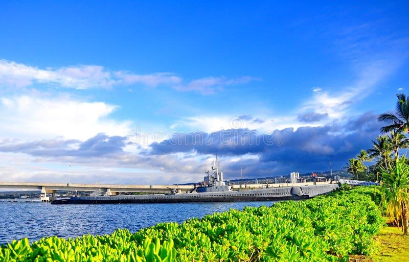 Monumento en el Pearl Harbor fotografía de archivo