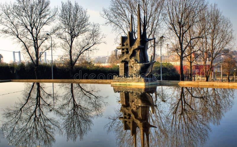 Monumento en el pescador en Matosinhos imagen de archivo