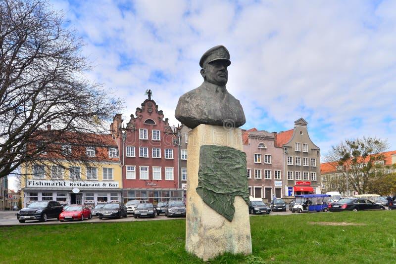 Monumento en Gdansk fotos de archivo