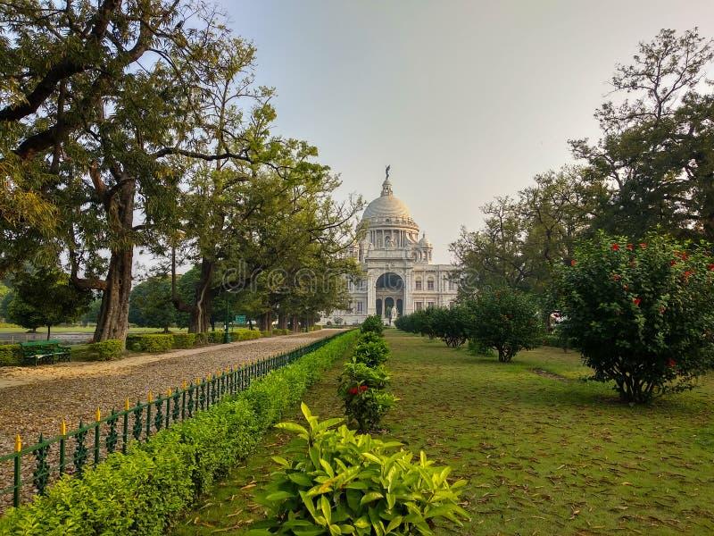Monumento en Kolkata, la India de Victoria cuál fue construido entre 1906 y 1921 Se dedica a la memoria de la reina Victoria imágenes de archivo libres de regalías