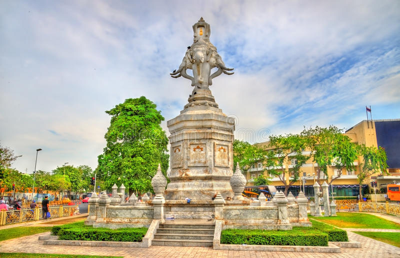 Monumento en la ciudad vieja de Bangkok, Tailandia fotos de archivo libres de regalías