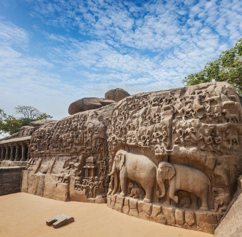 Monumento en Mahabalipuram, Tamil Nadu imagen de archivo libre de regalías
