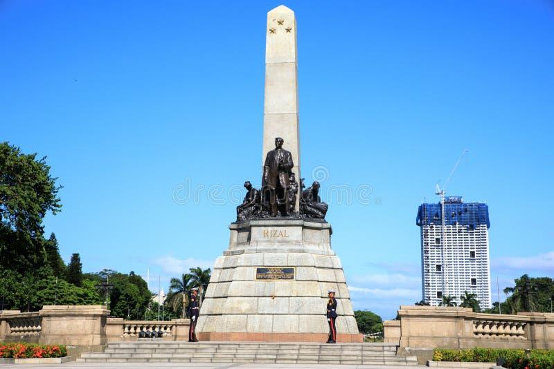 Monumento en memoria de Jose Rizal en el parque de Rizal imágenes de archivo libres de regalías
