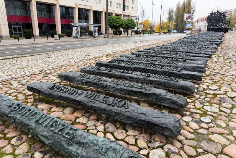 Monumento en Polonia foto de archivo