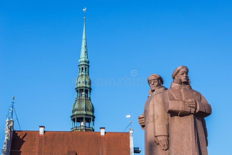 Monumento en Riga fotos de archivo libres de regalías