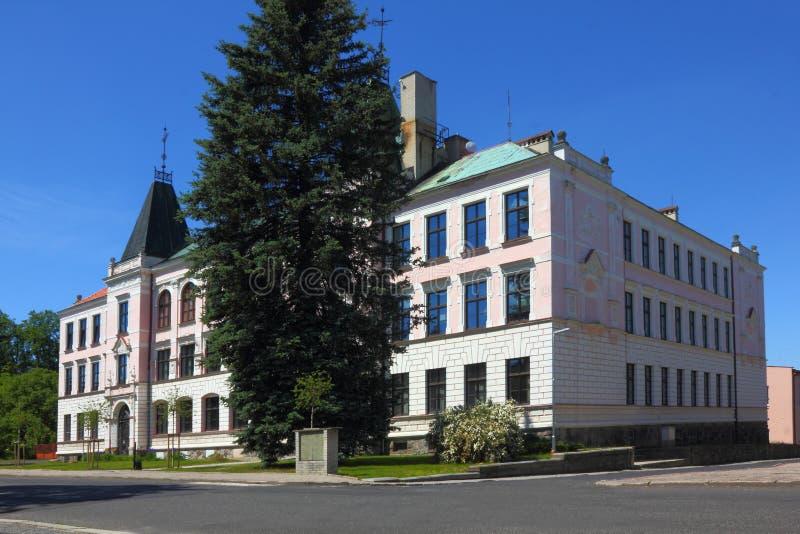 Monumento en Sluknov imagenes de archivo