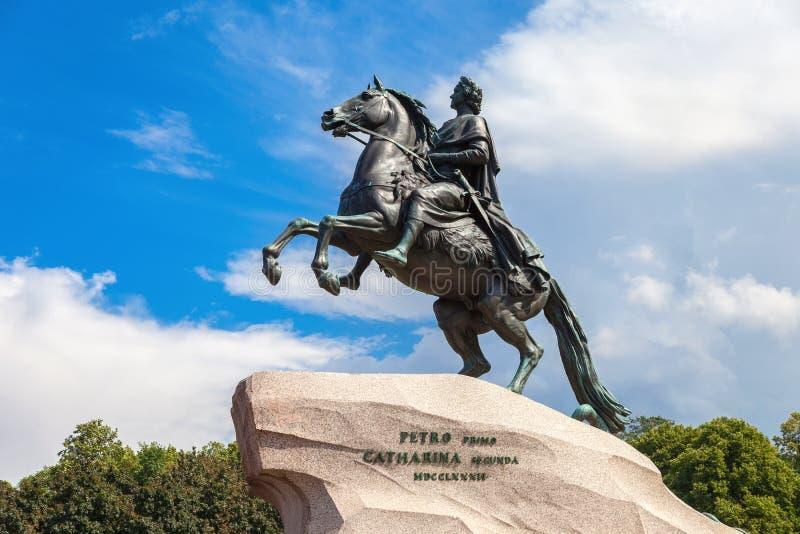 Monumento equestre dell'imperatore russo Peter grande Peter Fi fotografia stock