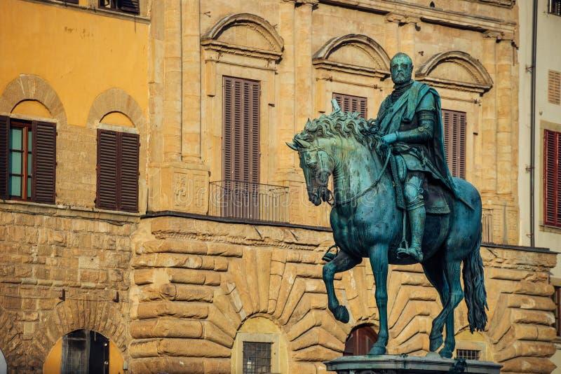 Monumento equestre di Cosimo I Firenze, Italia fotografie stock