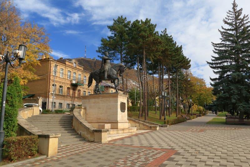 Monumento equestre a generale Aleksey Petrovich Yermolov in Pjatigorsk, Russia immagine stock