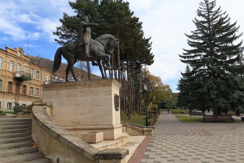 Monumento equestre a generale Aleksey Petrovich Yermolov in Pjatigorsk, Russia fotografia stock libera da diritti