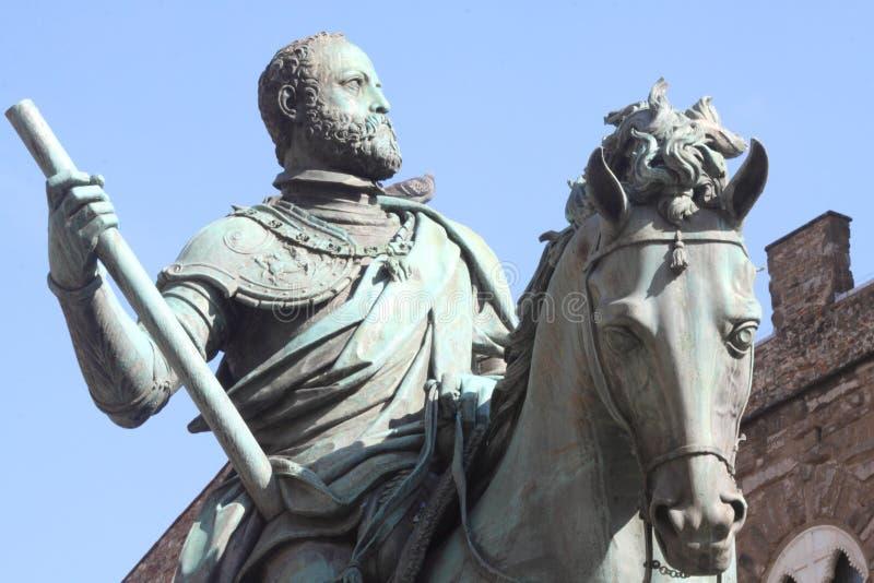 Monumento equestre a grande Duke Cosimo I fotografia stock libera da diritti