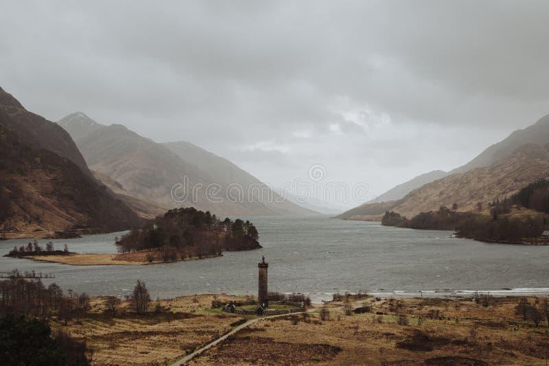 Monumento Escocia de Glenfinnan fotografía de archivo libre de regalías