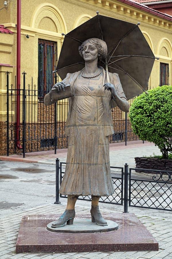 Monumento a Faina Ranevskaya en Taganrog, Rusia imagen de archivo