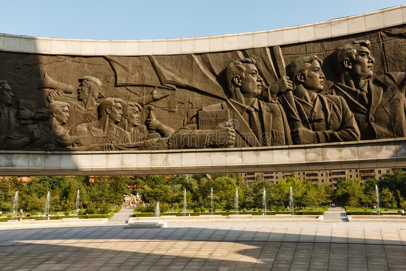 Monumento a fondare del Partito dei lavoratori coreano fotografia stock