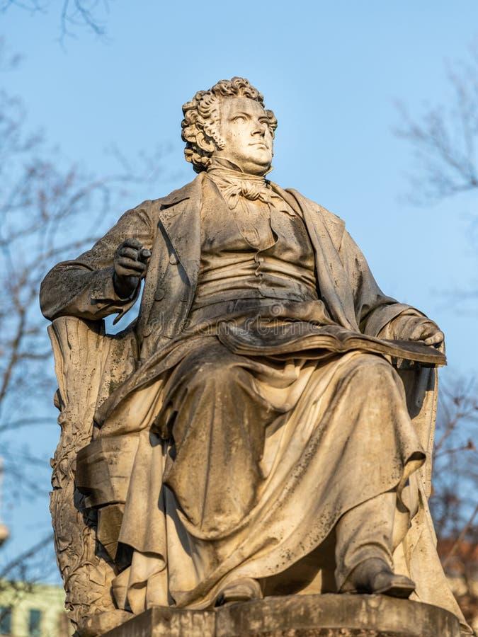 Monumento a Franz Schubert en Viena Stadtpark en invierno fotografía de archivo libre de regalías